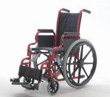 鋼鉄手動子供、基礎、車椅子、(YJ-013F)