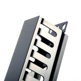 1u менеджер кабеля держателя шкафа 19 дюймов горизонтальный для проводки
