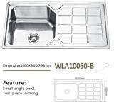 De Gootsteen wla10050-B van de Keuken van het roestvrij staal