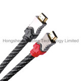 De Geplateerde HDMI Kabel van de hoge snelheid Goud V2.0 V1.4 voor HDTV LCD DVD