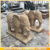 Standbeeld van de Olifant van de Stijl van Thailand van het Beeldhouwwerk van de steen het Dierlijke