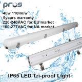 luz 40W da Tri-Prova do diodo emissor de luz IP65 de 600mm/1200mm/1500mm para o lote industrial/estacionamento