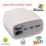 De Steun van de Interface van het kenmerkend-Hulpmiddel van de Scanner Elm327 van Vgate Elm327 WiFi Obdii OBD2 voor Androïde Ios