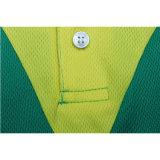 Progettare la camicia per il cliente di polo di golf della pianura dello spazio in bianco dei vestiti di modo