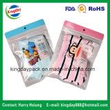 Мешок Ziplock/застежки -молнии для нижнего белья & одежды с пластичным крюком/вися отверстием