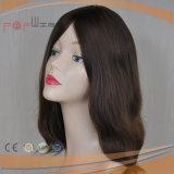 Parrucca di vendita superiore dei capelli umani di colore scuro su vendita