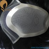 Human natural Hair Mono Toupee para Men Tp25