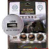 12V de drievoudige Splitser van de Contactdoos van de Lader van de Sigaar van de Auto Lichtere