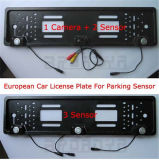 3 SensorsのヨーロッパのLicense Plate Car Rearview Parking Sensor 2および1 Camera