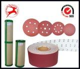a-D de pulido del disco del Velcro del óxido de aluminio de madera
