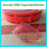 カスタム機密保護のシールテープ; 赤い機密保護テープ
