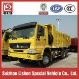 중국 상표 HOWO 새로운 덤프 트럭 남겨두는 오른손 드라이브