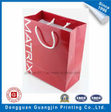 Red Color Printing Laminage Papier glacé Shopping Bag