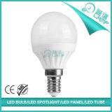 lâmpada E14/E27 do globo do diodo emissor de luz de 5W 7W G45 aprovada