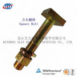Head quadrado Bolts com Nut e Washer para Rail Fastening System