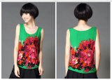 Vestiti su ordinazione delle donne del fiore del cotone di nuovo modo di disegno