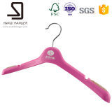 Очень Cheap Plastic Hanger для Lady Clothes, Rose Red Kids Clothes Hanger