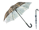 Parapluie automatique droit d'impression de peau animale (YS-SA23083927R)