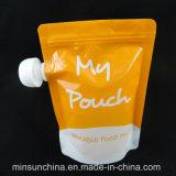 Полиэтиленовый пакет изготовленный на заказ цвета раговорного жанра с Spout