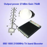 2g 3G 4G 850 1800 2100MHz Tri Band Mobile Signal Booster Repeater
