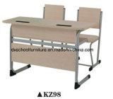Conjunto de madera del escritorio de la escuela del producto del asiento doble y de los muebles de la silla