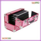 분홍색 다이아몬드 아BS 표면 직업적인 알루미늄 메이크업 케이스 (SACMC089)