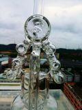 Lastet Entwurfs-Borosilicat Pyrex Haus-Form-Recycler-rauchendes Wasser-Glasrohr