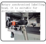 Automatischer Nahrungsmittelkosmetischer doppelter seitlicher Flaschen-Aufkleber-Etikettiermaschine