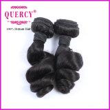 Première armure de cheveux humains du cheveu 100% de Fumi de Vierge de pente