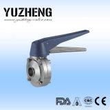 Fabricante sanitário da válvula de borboleta da posição de Yuzheng multi