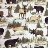 tela impressa da flanela de algodão da tela 2017winter para senhoras e pijamas e roupa de noite dos homens