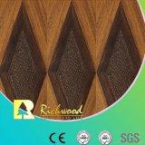 12.3mm Woodgrain-Beschaffenheits-Walnuss-V-Grooved Wasser beständiger Laminbate Fußboden