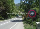 Signes fixes de vitesse limite de la circulation routière de signe de vitesse de radar DEL