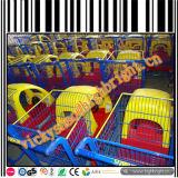 Carretilla plástica de la mano de los niños del supermercado para alquilar
