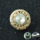 Кнопка джинсыов женщин конструкции способа стеклянная кристаллический