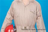 Roupa de trabalho longa elevada da luva de Quolity da segurança barata do poliéster 35%Cotton de 65% (BLY1028)