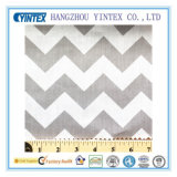Серая хлопко-бумажная ткань Big Chevron Poly для Home Textiles