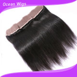 Ear Full Lace FrontalおよびBaby Hair (F-007)のClosuresへの8AブラジルのVirgin Hair Lace Frontal 13X4 Straight Lace Frontal Closure Ear