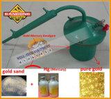 水星の金の蒸留器の金の精錬の水星は蒸溜する