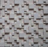 Calacatta 지면 도와 (FYSSC022)를 위한 백색 자연적인 Stine 대리석 모자이크 타일