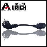 O VDE aprovou Pin 3 fio elétrico usado elétrico do cabo distribuidor de corrente do plugue de 13 ampères, cabo de potência 2pin de bronze Extensional do multi soquete
