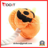 Rope를 가진 Halloween Pumpkin Dog Chew Pet Toy