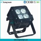 屋外DMX 4X15W Ostar RGBW LEDの平らな同価