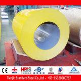 La qualité a enduit le jaune d'une première couche de peinture de balai de Ral 1032 de bobine de l'acier PPGI