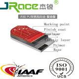 高等学校のトレーニングのスポーツの連続した格子縞トラック(IAAF、セリウムの標準)