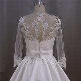 Длиннее платье венчания сатинировки втулки с отставать