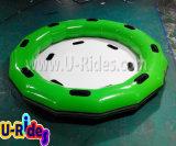 水公園のFirberglassのスライドのための膨脹可能な円形水いかだ