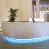 Solid acrylique Surface Stone Commercial Reception Desk pour Hotel