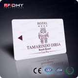 cartão plástico do material RFID FM08 Identificated do PVC 13.56MHz
