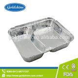 Contenitore di alimento rettangolare durevole del di alluminio con il coperchio della scheda